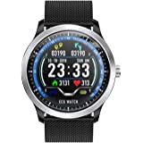 SODIAL N58 ECG PPG Smart Watch Holter ECG Heart Rate Monitor Blood Pressure Smartwatch Black