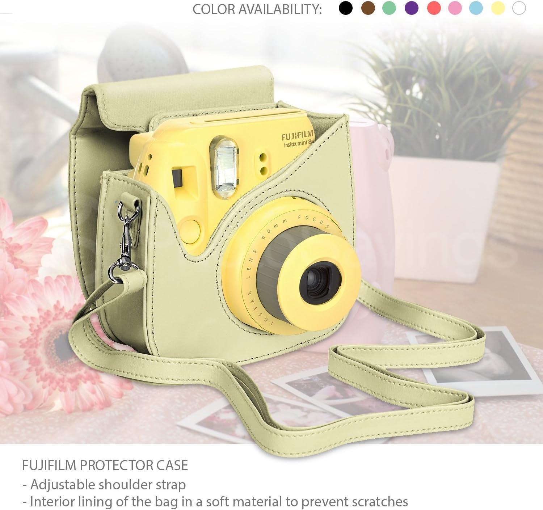 Case Fujifilm Instax Mini 8//8+//9 Includes 40 Instax Film Album Xpix 135Pc 4 Colored Close up Filters Black 40 Film Frames Selfie Mirror 12 Color Markers /& Complete Bundle Accessory Kit