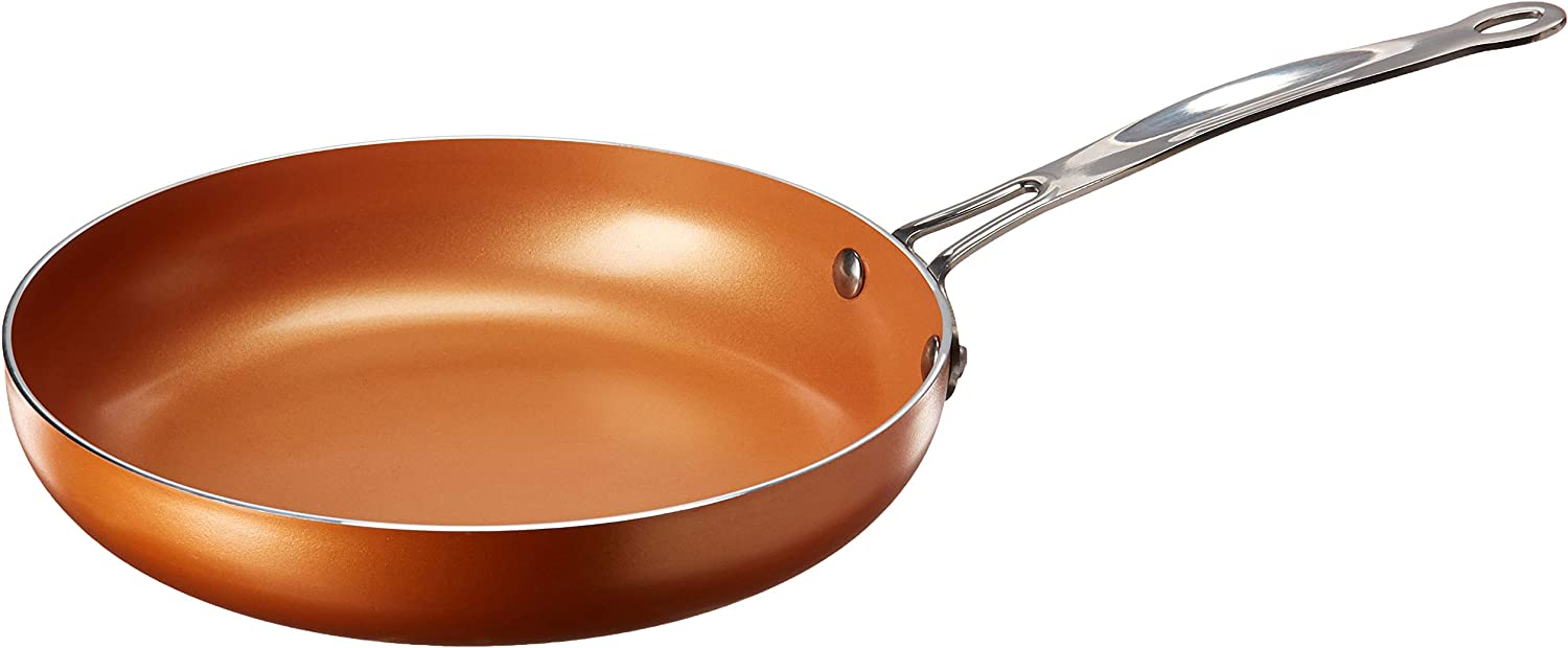 "Euro-Home Gorgeous 9.5"" Ceramic Copper Coated Fry Pan, Multicolor"