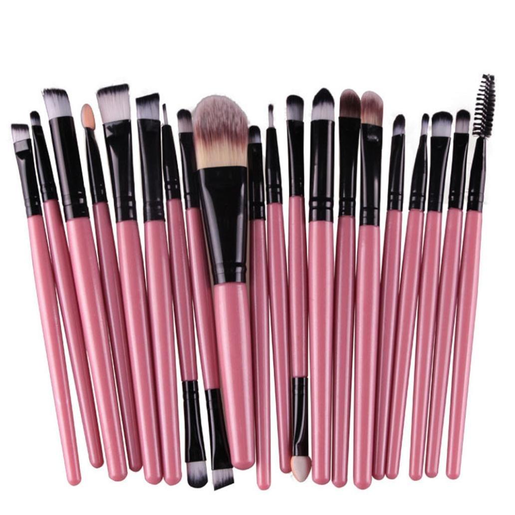 Malloom® 20 PC Professionale Contorno Piatto Fard Pennello Cosmetico Rossore Kabuki Strumento Cosmetici Pennello Trucco (viola) Malloom-ER5