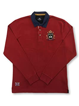 La Martina Long Sleeved Polo in Red and Navy: Amazon.es: Ropa y ...