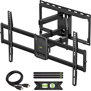 USX MOUNT Full Motion TV Wall Mount for Most 47-84 inch Flat Screen/LED/4K TVs, TV Mount Bracket Dual Swivel Articulating Tilt 6 Arms, Max VESA 600x400mm, Holds up to 132lbs, Up to 16
