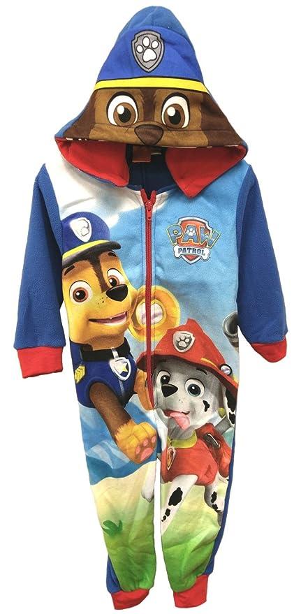 Paw Patrol Niños Kids con capucha con cremallera – Onesie suave forro polar Girls Pjs pijama