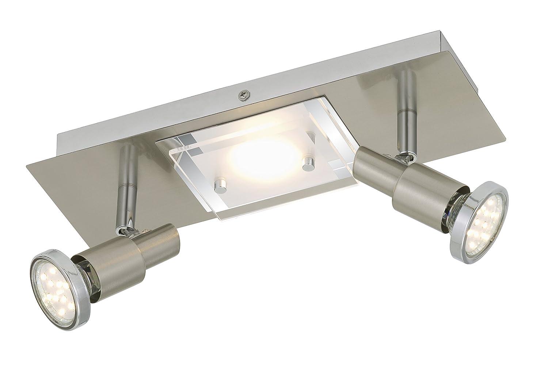 Briloner Leuchten LED Deckenlampe, 1xLED 5 W, 2xLED GU10 3 2879-032 W, matt nickel 2879-032 3 147c18