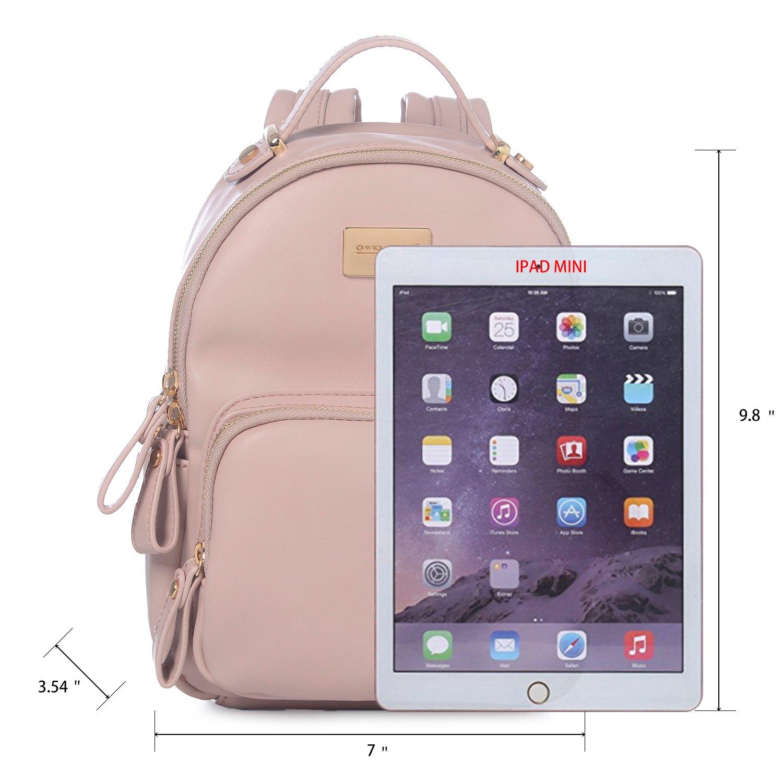 f68038b636d Amazon.com  DAVID - JONES INTERNATIONAL. Fashion Pink Small Compack Travel Back  Pack Purse for Teen Girls  Shoes