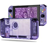 BASSTOP [Update Version] DIY Housing Shell Case Set for Switch NS NX Console and Right Left Switch Joy-Con Controller Without Electronics(Set-Atomic Purple)