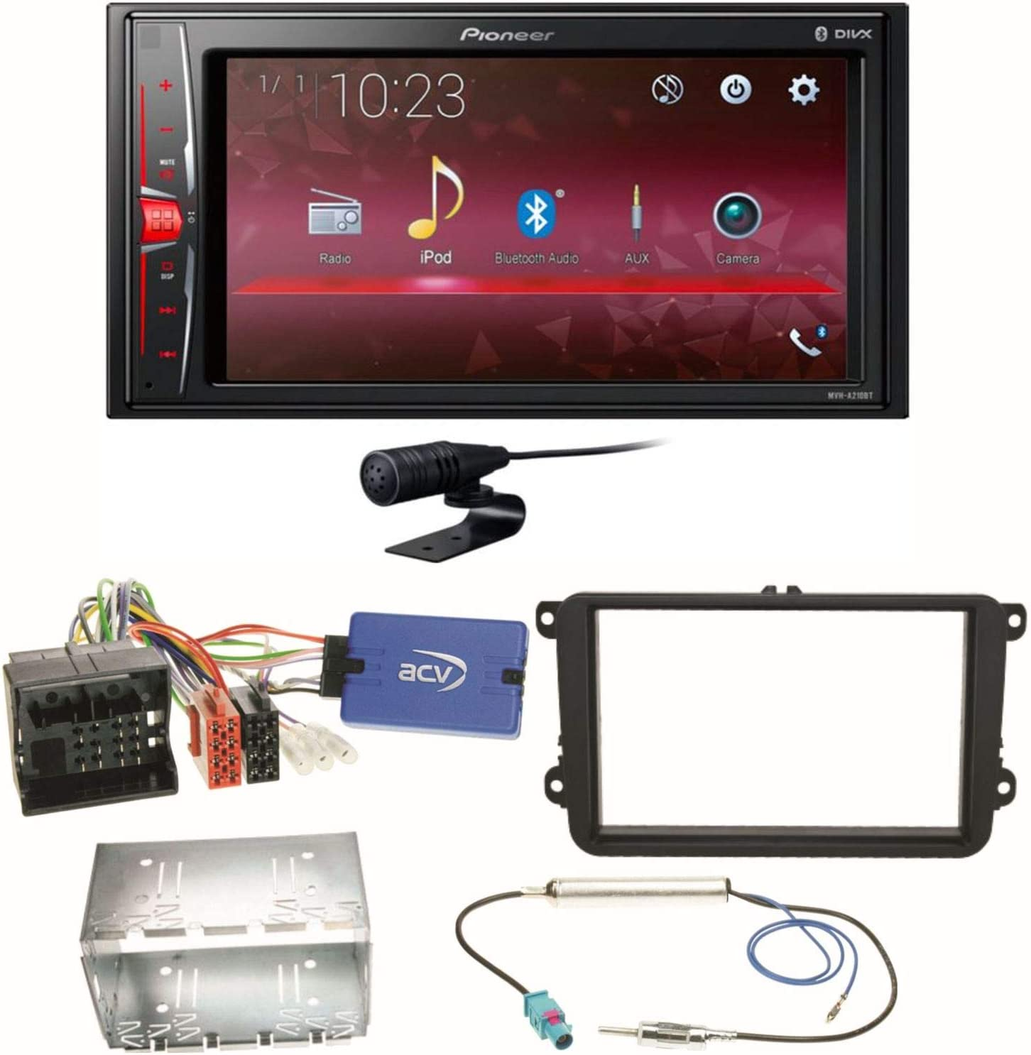 Pioneer MVH-A210BT - Radio para Coche (Pantalla táctil, Bluetooth ...