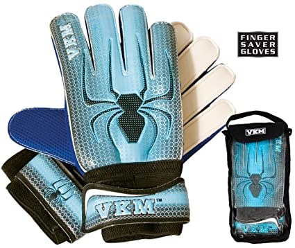 NEW VKM GK18 Soccer Goalie Goal Keeper Gloves with Finger Saver Protection  Sizes 4-9 3656864733
