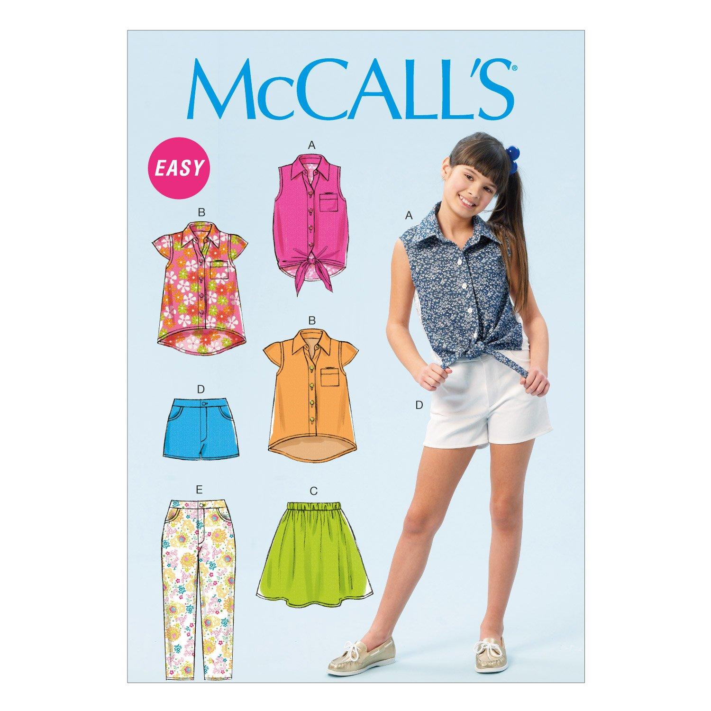 c2b25595f McCall s Patterns MC6951 Sizes 7-8 - 10-12 - 14 Girls Plus Tops ...