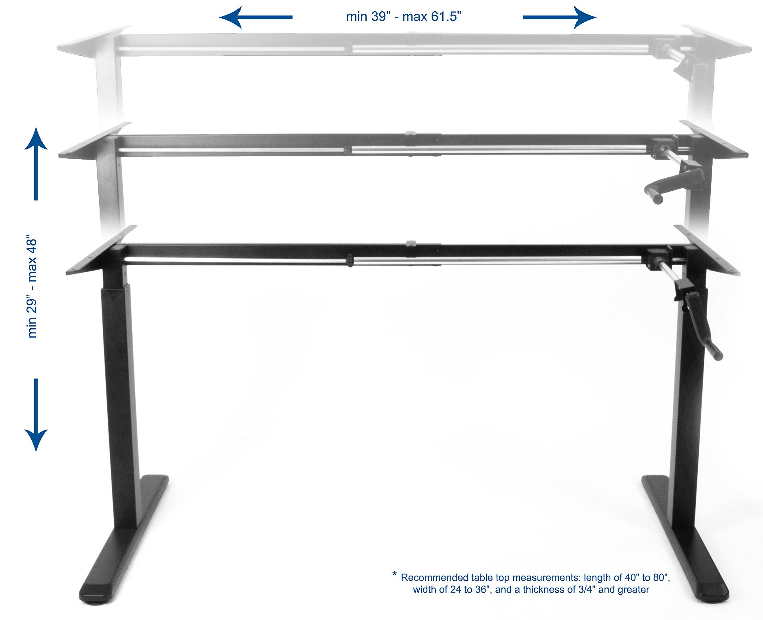 b level product walnut reg split dw c dark crank ag luxor tier h adjustable stand two up desk