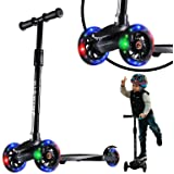 3 Wheel Scooter for Kids Ages 3-5 Boys Girls, Toddler Scooter with LED Light Up Wheels, Kids Scooter with Adjustable Height,