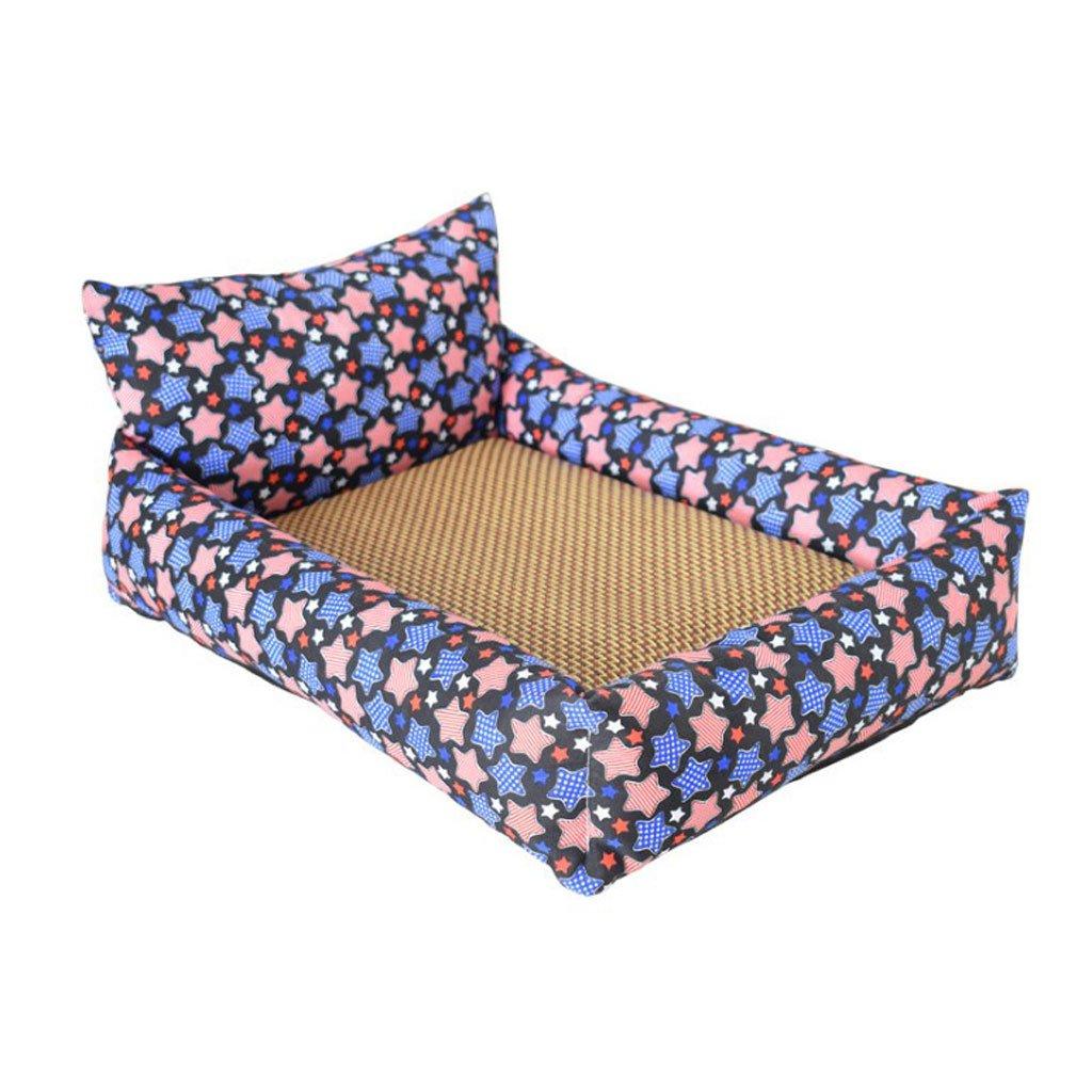 A 100CM70CM A 100CM70CM RKY Washable Bite Resistance Pet Bed Dog Mat Pet Mat Pet Sleeping Pad Cat Dog Nest Non-sticky Pet Supplies Soft sleeping pad (color   A, Size   100CM70CM)