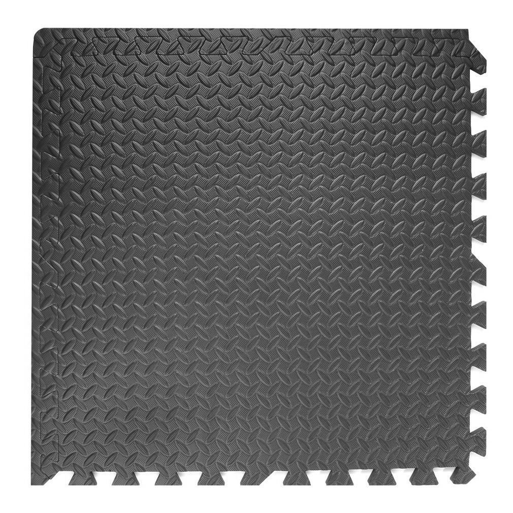 Black, 30 Tiles OUTAD 120 sq ft Puzzle Exercise Mat 24 x 24 x 3//8 inch EVA Foam Interlocking Tiles Protective Flooring for Gym Equipment and Cushion for Workouts