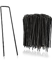 GardenGloss® Erdanker - Stabile Bodenanker für Unkrautvlies, Gartenvlies, Zaun & Camping - 150 MM Lang, 25 MM Breit, Ø 2.7 MM
