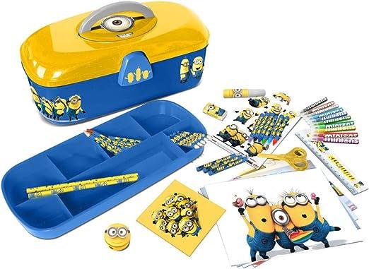 Minions Niños Aprendizaje Juguete Caja de herramientas con 60 piezas actividad creativa juego: Amazon.es: Ropa y accesorios