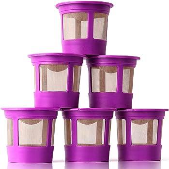 GoodCups 6 Reusable K Cups for Keurig K-Classic, K-Elite, K-Select, K-Cafe, K-Compact