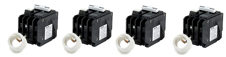 Eaton GFTCB250 Plug-On Mount Type GFTCB Ground Fault Circuit Breaker 2-Pole 50 Amp 120//240 Volt AC