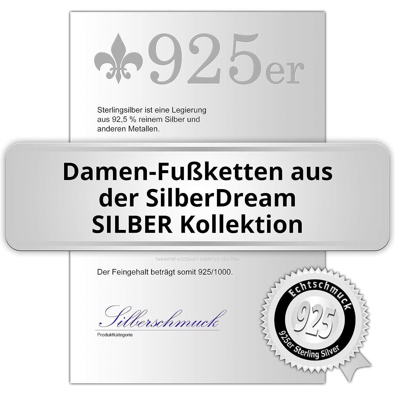SilberDream Fu/ßkette 333er rosegold Damen Silberschmuck Perlen 27cm SDF2234E