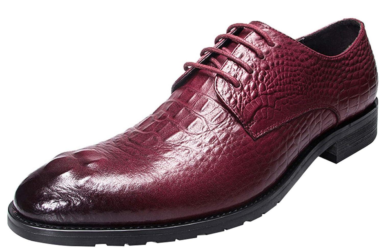 RSHENG Nachahmung Der Krokodilspitze Derby Beschuht Geschäfts-beiläufige Kleidschuhe Der Männer