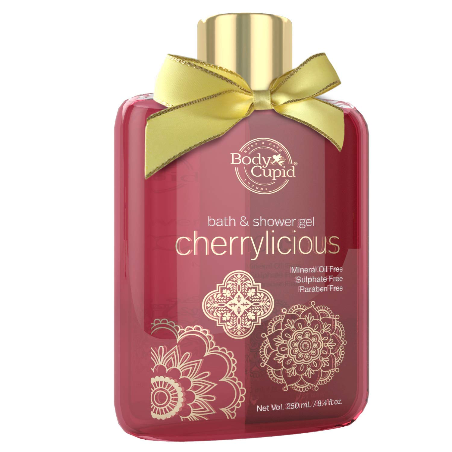 Body Cupid Cherrylicious No Parabens and Sulphates Shower Gel, Red, 250ml