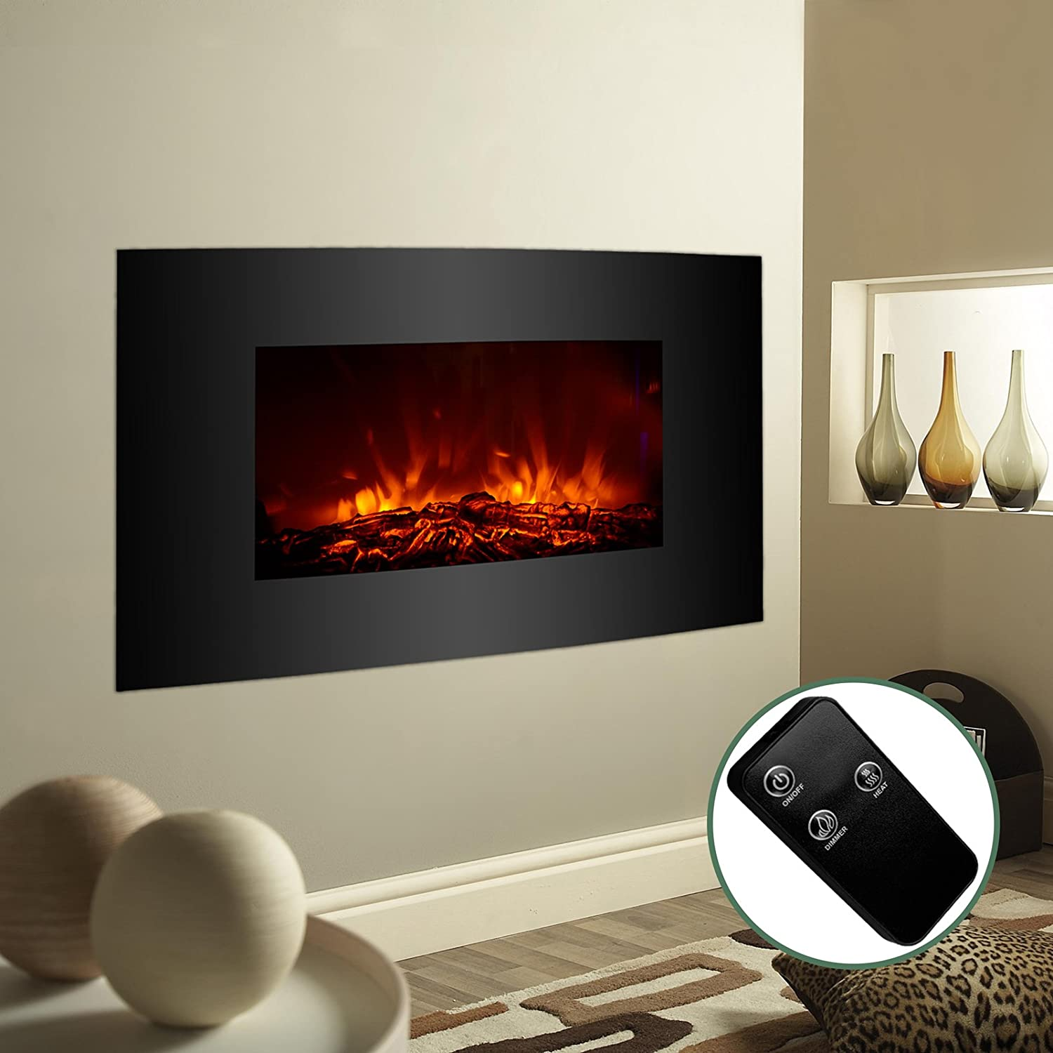 Amazoncom Kuppet 23 Standing & Wall Mounted Electric Fireplace Space