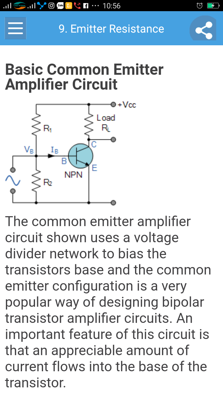 Amplifier Tutorial Full Appstore For Android The Common Emitter Circuit