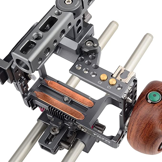 Tilta es-t27-a Handheld cámara jaula Rig con Start/Stop mango de ...