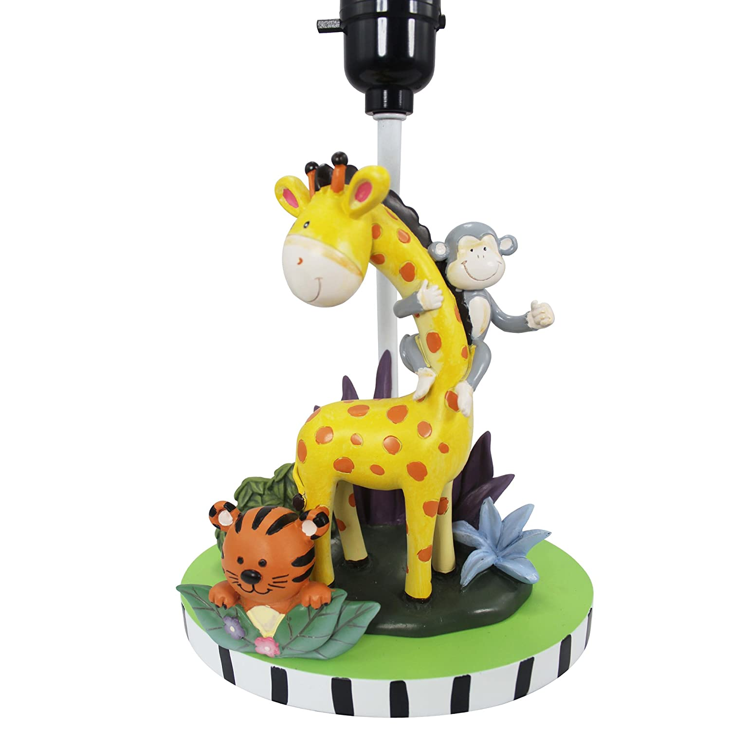Amazon.com: Fantasy Fields   Sunny Safari Animals Thematic Kids Table Lamp  | Imagination Inspiring Hand Painted Details Non Toxic, Lead Free  Water Based ...