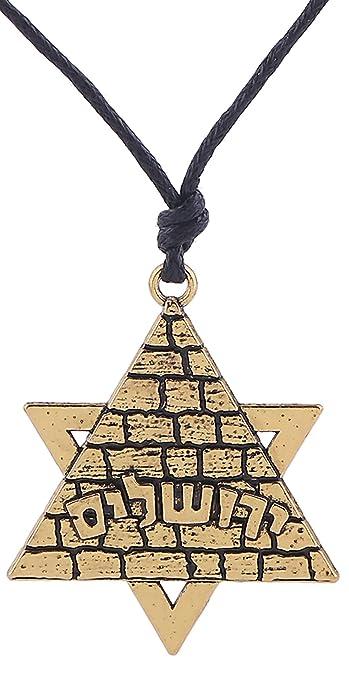 Jewish Symbol Star Of David Egyptian Pyramid Necklace Jewelry For
