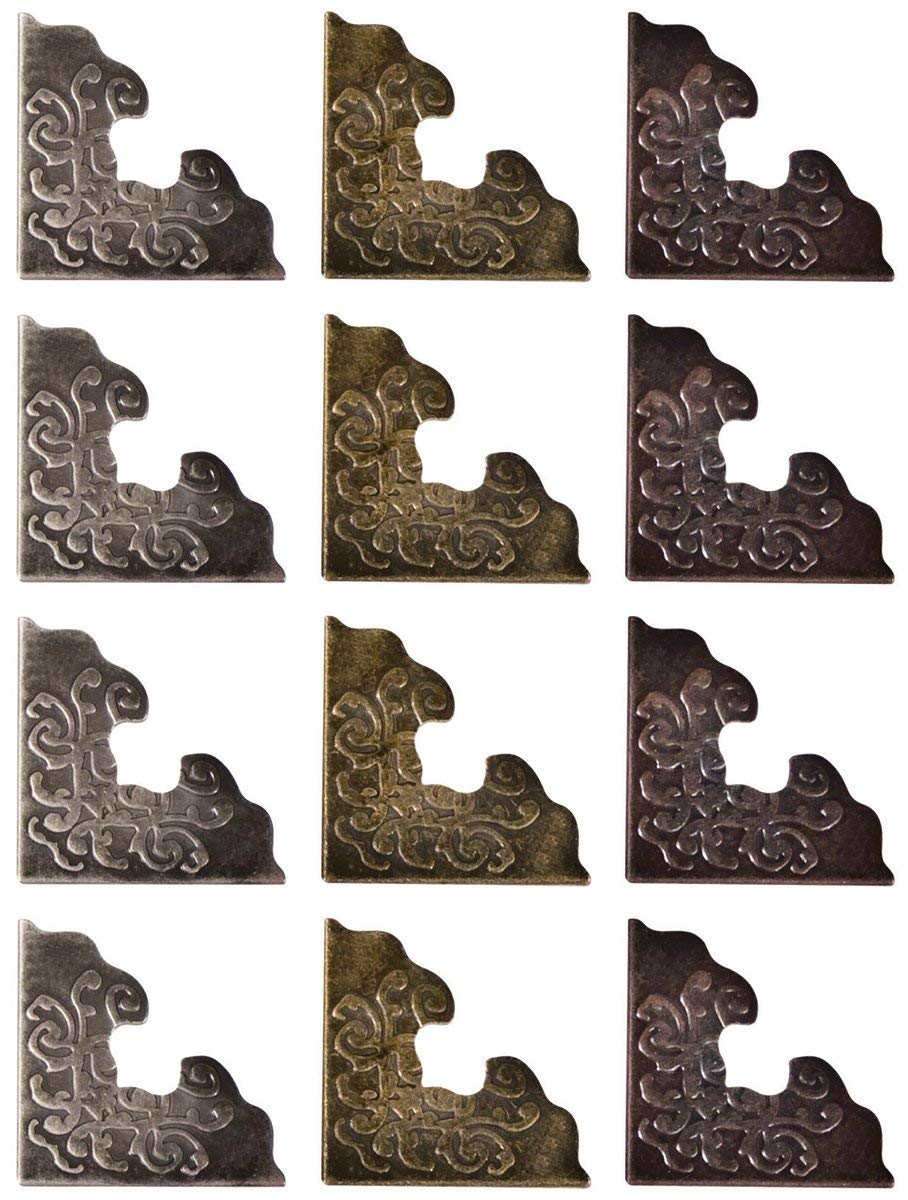 1-Inch Advantus Metal Corners by Tim Holtz Idea-Ology TH92789 12 Per Pack Antique Finishes