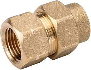HomeFlex 11-435-005 1/2-Inch Brass Corrugated Stainless Steel Tubing x FIPT Female Adapter