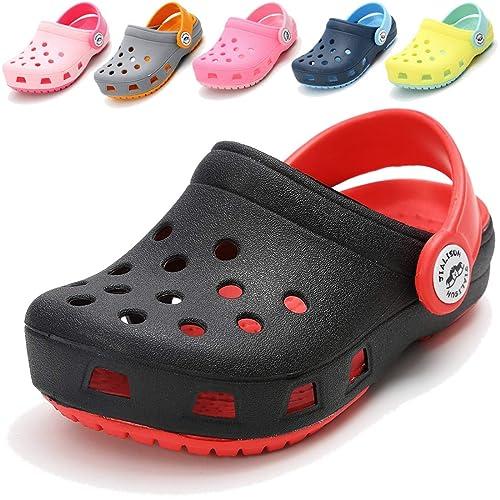 9aeccf333d COSANKIM Toddler Kids Boys Girls Classic Clogs Lightweight Summer Water  Garden Shoes Slides Sandals Slip On Beach Slippers(Toddler/Little Kids)