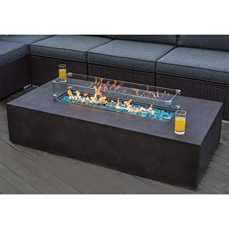 Awe Inspiring Cosiest Outdoor Propane Fire Pit Table 56 Inch X 28 Inch Rectangle Bronze Compact Concrete Like Finish 60 000 Btu Wind Guard Tank Outside Free Lava Unemploymentrelief Wooden Chair Designs For Living Room Unemploymentrelieforg