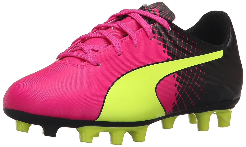 PUMA Evospeed 5.5 Tricks Fg JR Skate Schuhe, Pink Glo Safety Yellow, 5.5 B US Big Kid
