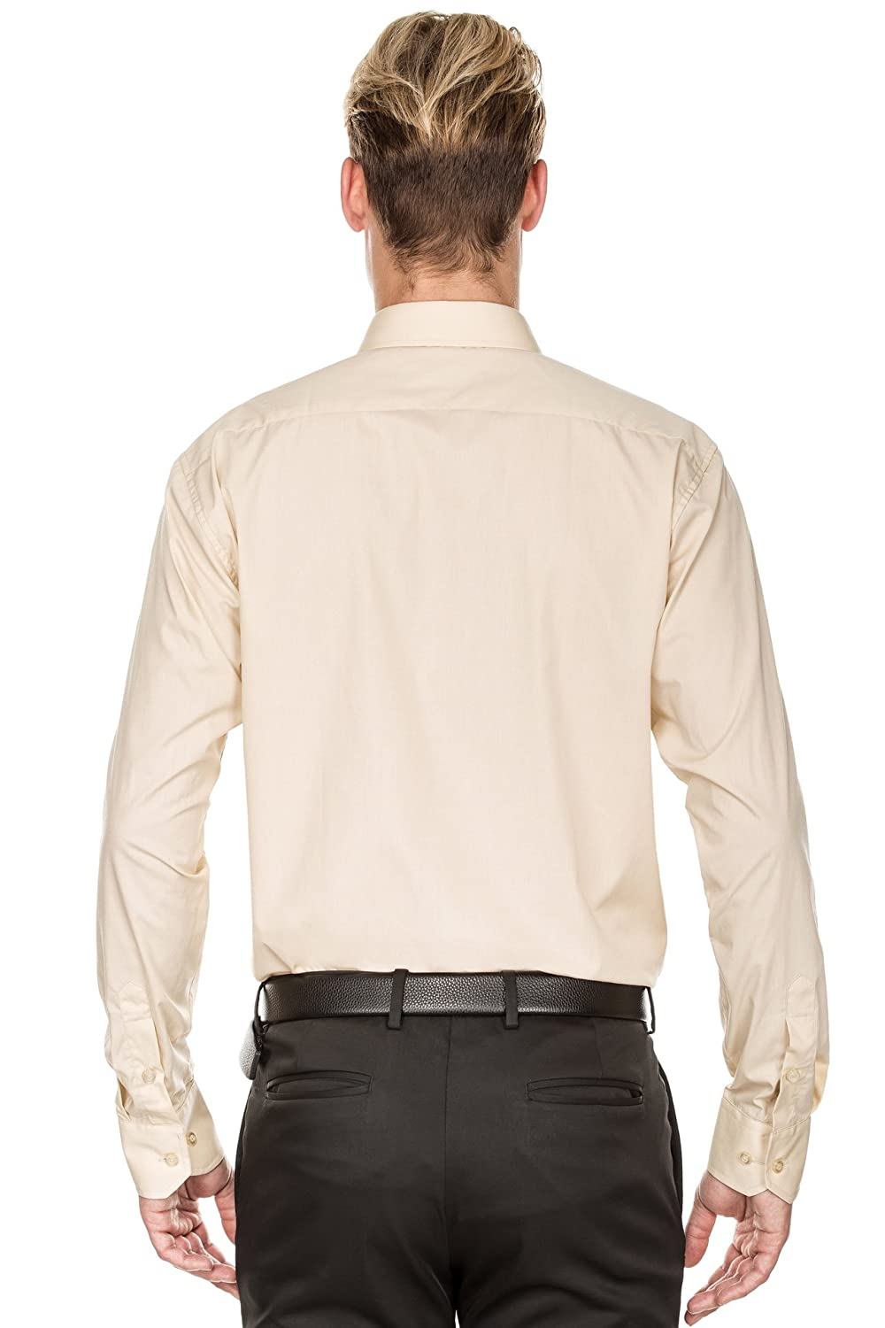 Luxton Men/'s Regular Fit Long Sleeve Cotton Poly Dress Shirt Available in More Colors