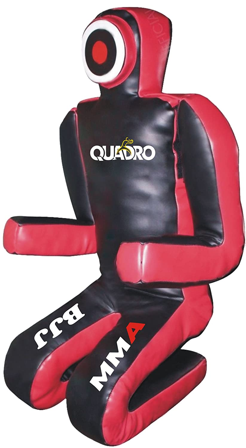 Quadro MMA Martial Arts Grapplingダミーブラック/レッドJiu Jitsu Punching Bag – Unfilled B076VX9XP2 70 inches (6 ft)|Synthetic Leather Black Synthetic Leather Black 70 inches (6 ft)