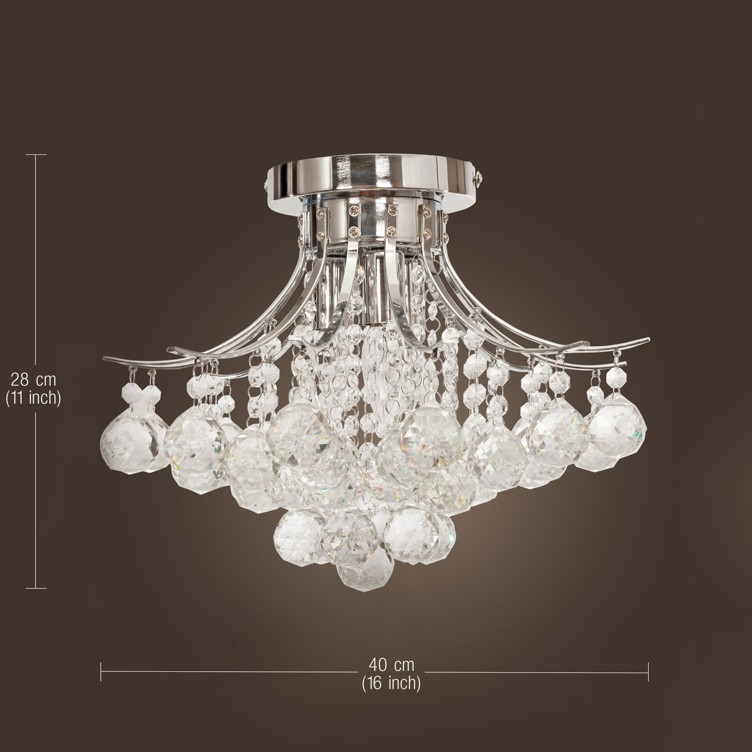 LightInTheBox  Chrome Finish Crystal Chandelier With - Dining room crystal lighting