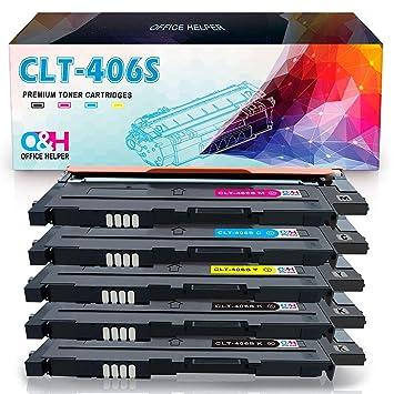 OFFICE HELPER CLT-P406C Cartuchos de Tóner Compatibles con ...