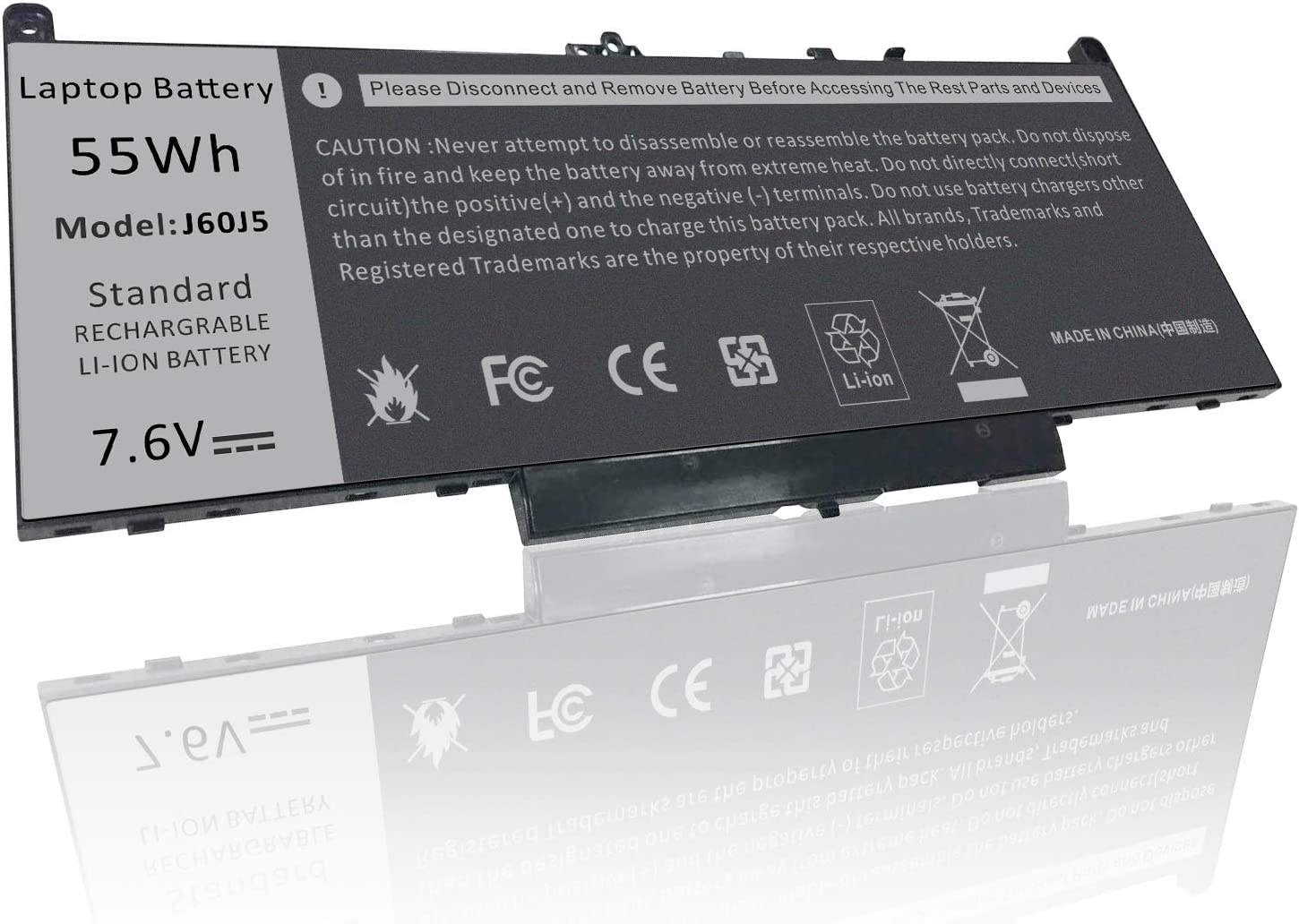 Battery for Dell Latitude E7470 E7270 7470 7270 7.6V 55Wh Battery Type MC34Y 242WD 1w2y2 J60J5