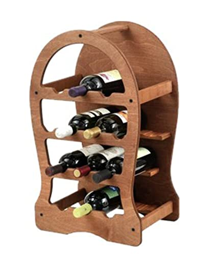 Cantinetta Portabottiglie Vino 13 Pz In Legno Scuro Amazon It