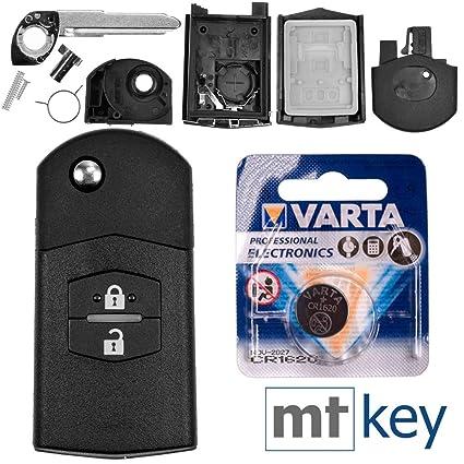 Auto Klapp Schlüssel Gehäuse MAZDA 3 5 6 CX5 CX7 CX9 RX8 FERNBEDIENUNG