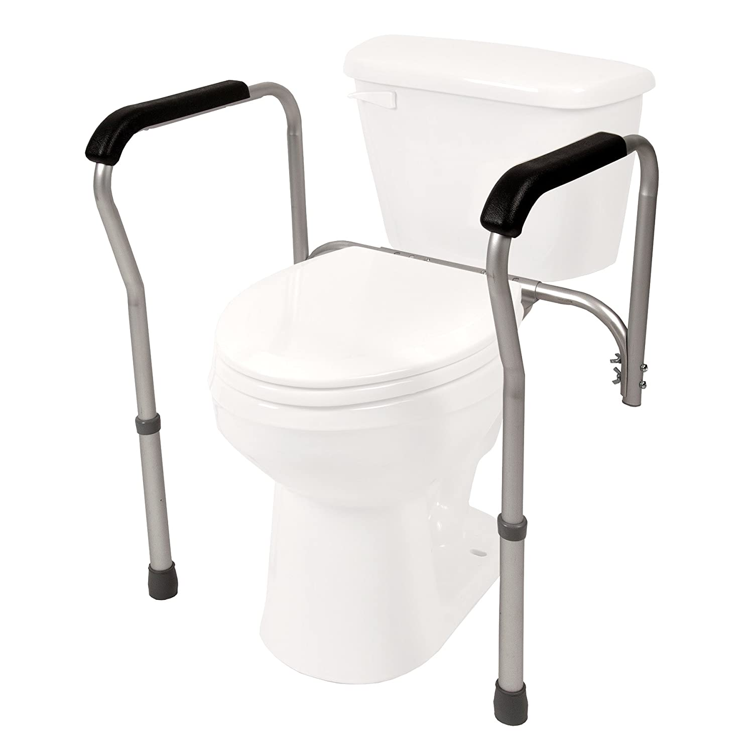 PCP Lightweight Aluminum Toilet Safety Frame, Silver Frost Surgical Appliance Industries 7009