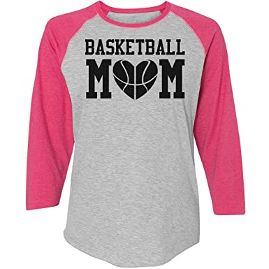 5c0ad95d89c Amazon.com: Customized Girl Plus Size Basketball Mom Shirts: Ladies Relaxed  Fit 3/4 Sleeve Raglan Tee: Clothing