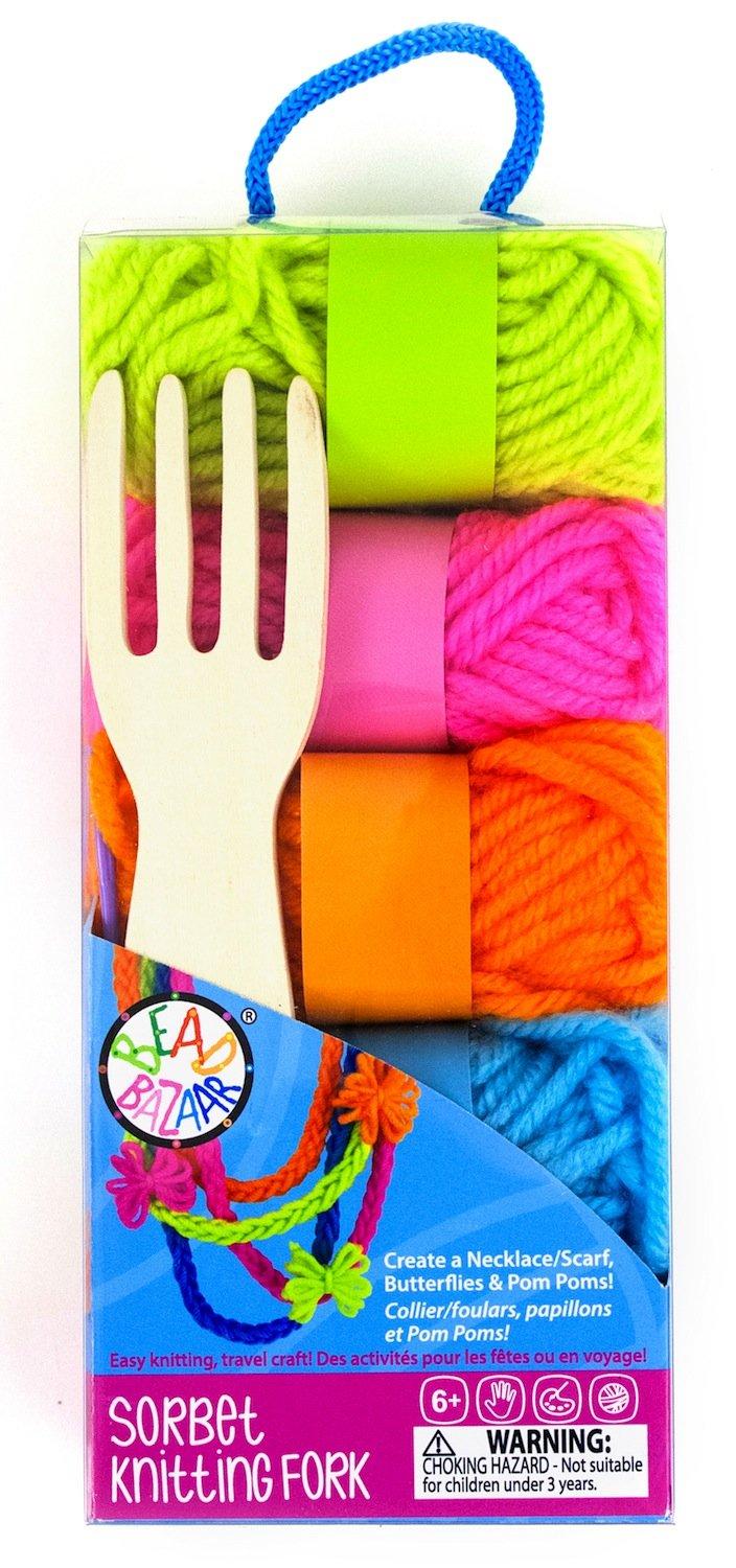 Belair Gifts Number One Selling Creative Activity Girls Fun Arts & Crafts Gift Idea For Birthdays Age 6+ Knitting Fork