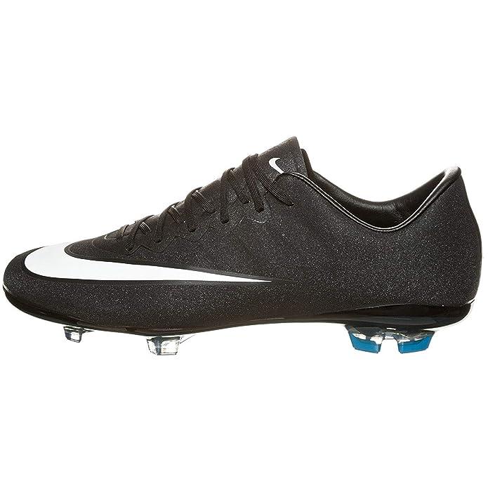 1f8c038a8d4fb Amazon.com   Nike Youth Mercurial Vapor X CR7 FG Soccer Cleats (Black)-1Y    Soccer