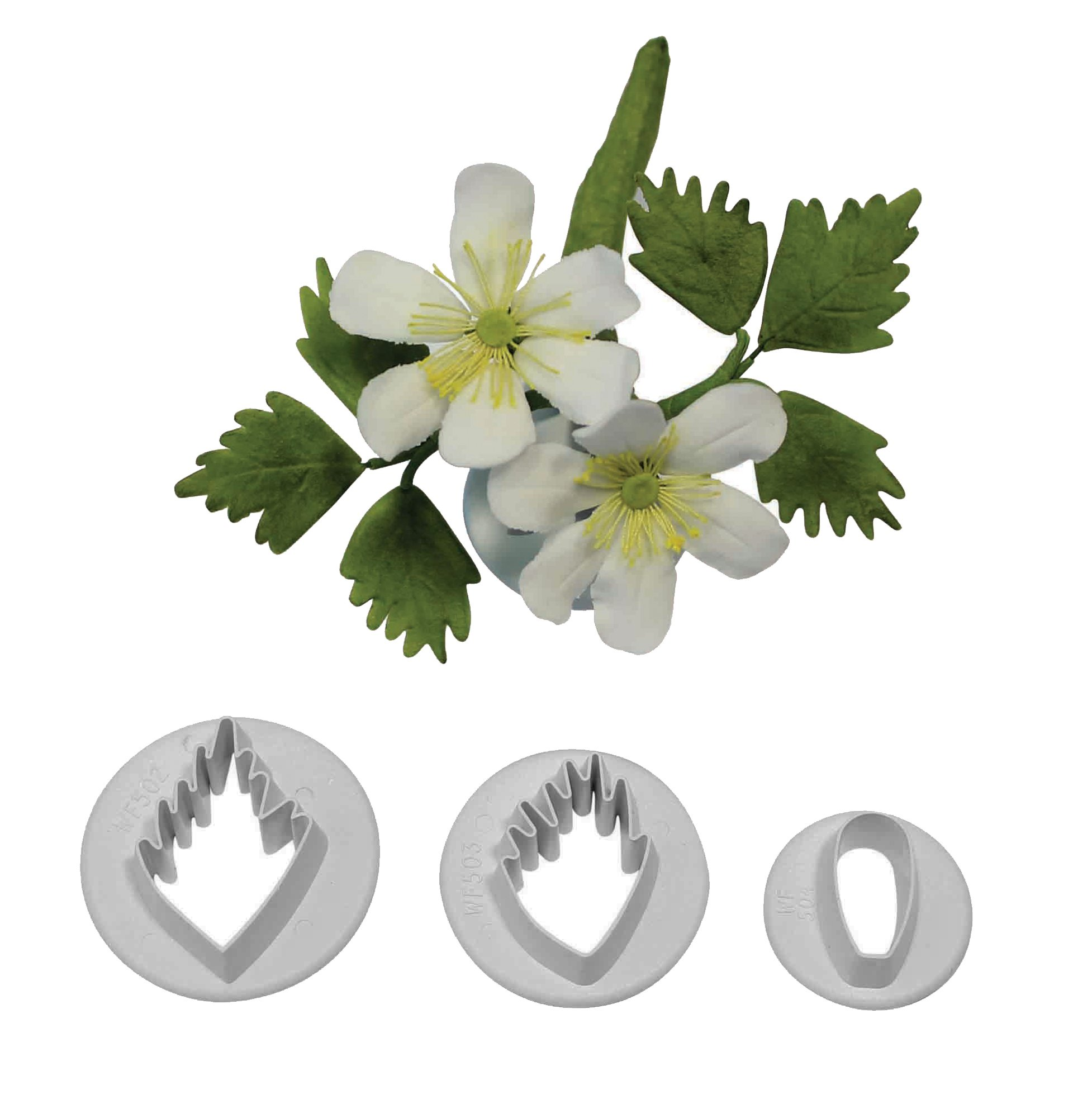 PME Wood Anemone Set of 3 cutters by PME SUGARCRAFT (Image #2)