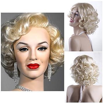 Amazon.com   Fashion Marilyn Monroe Wig Short Blonde Women Girls Wig  Synthetic Hot 3840   Beauty acea83e91f