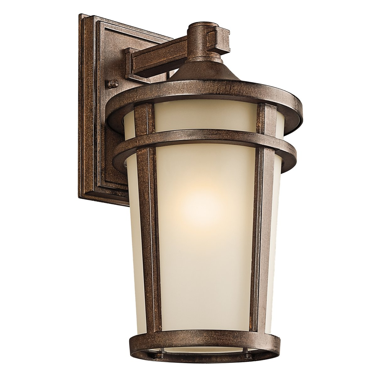 Kichler 49072BST One Light Outdoor Wall Mount   Wall Porch Lights    Amazon.com