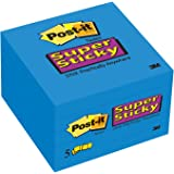 Post-it Super Sticky Notes, 3 x 3-Inches, Mediterranean Blue, 5-Pads/Pack (654-5SSBW)