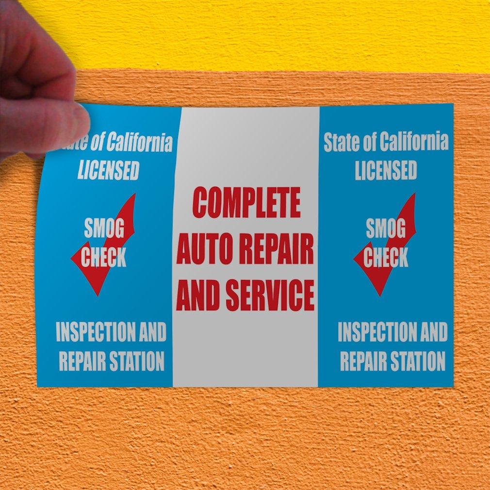 Decal Sticker Multiple Sizes Auto Repair Service California Licensed Automotive Auto Repair Outdoor Store Sign Blue 24inx18in Set of 10